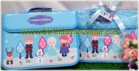 Souvenir Folder Bag Frozen Blue Kids