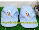 Souvenir Topi Ultah Bordir Rainbow little ponny