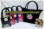 Souvenir Tas Long Champ tema Flower