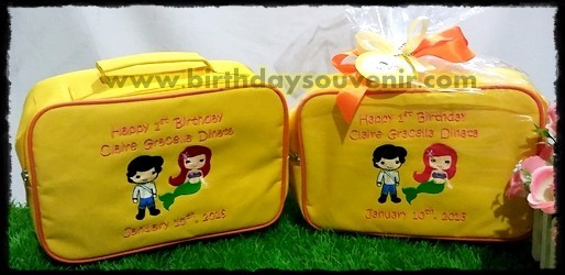 Souvenir Pouch Bordir Prince and Princess