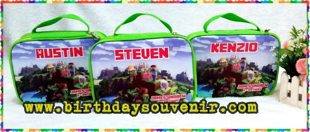 Souvenir pouch stationary tema minecraft