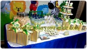Sweet Corner/ Dessert Table Ultah Daffi tema jungle A