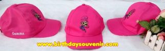 Souvenir Topi Ultah Bordir tema Shimer and Shine
