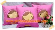 Souvenir Bantal Bordir Tema Girly