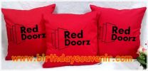 Souvenir Bantal Bordir Red Doorz