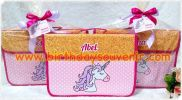 Souvenir Folder Bag Unicorn Gold