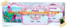 Souvenir Folder Bag Unicorn Pink